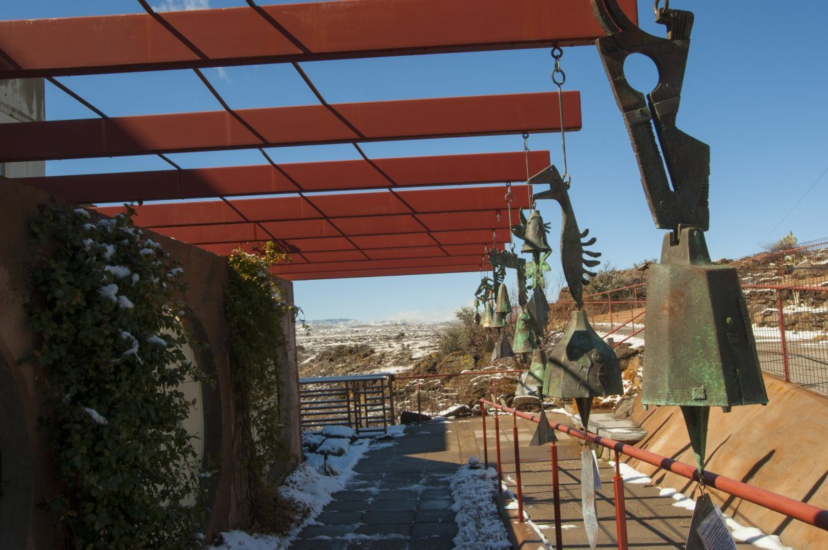 Arcosanti has an on-site foundry that produces bronze bells. (Wolfgang Kaehler/LightRocket/Getty Images)