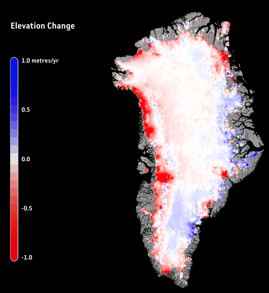 Greenland ice change 2015
