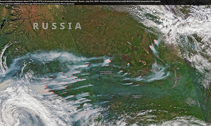 wildfires in Russia