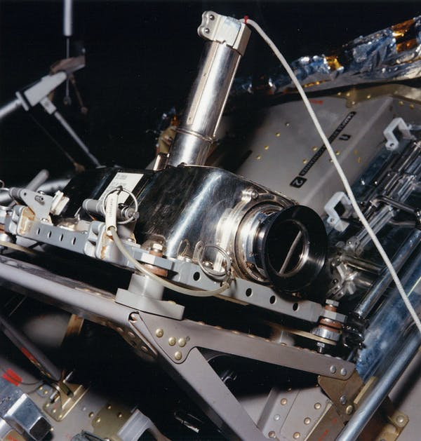Apollo Lunar Television Camera, as it was mounted on the side of the Apollo 11 Lunar Module