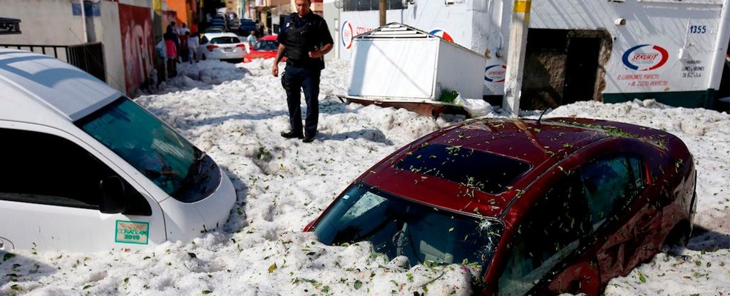 Freak Summer Hailstorm Dumped 5 Feet of Ice in Mexico And It Looks Unreal