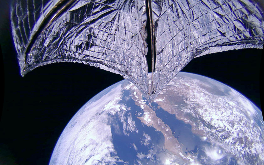 solar sail deployed