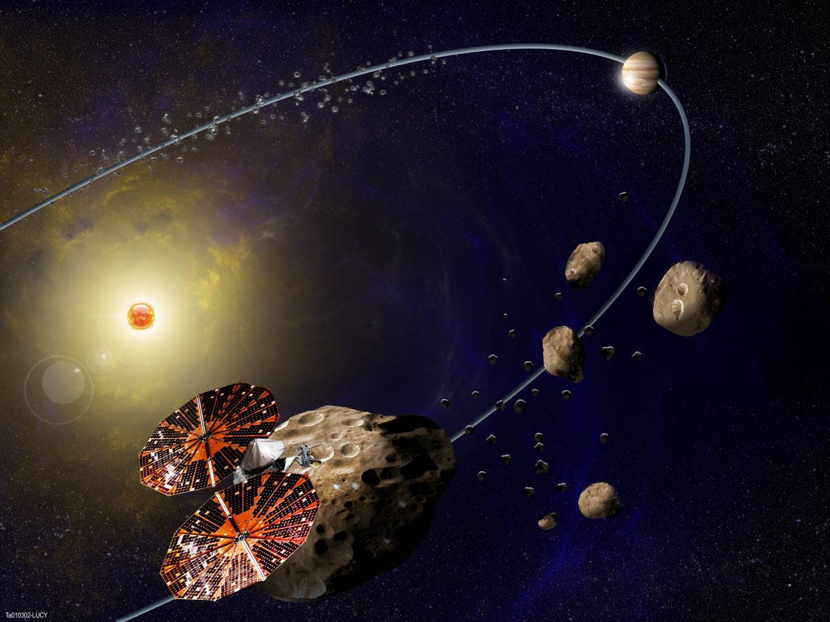 NASA's Lucy mission visiting asteroids near Jupiter. (Southwest Research Institute)