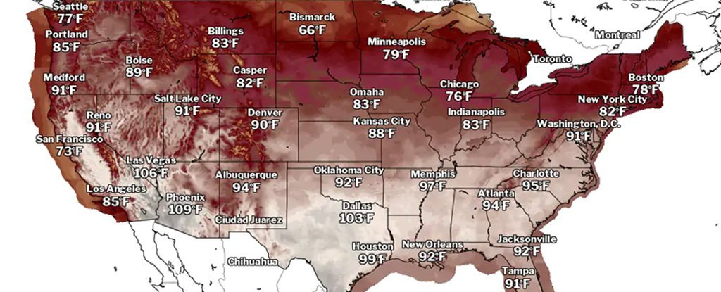 A 'Ring of Fire' Is About to Devastate The US With Heatwaves, Possible Storms And Floods