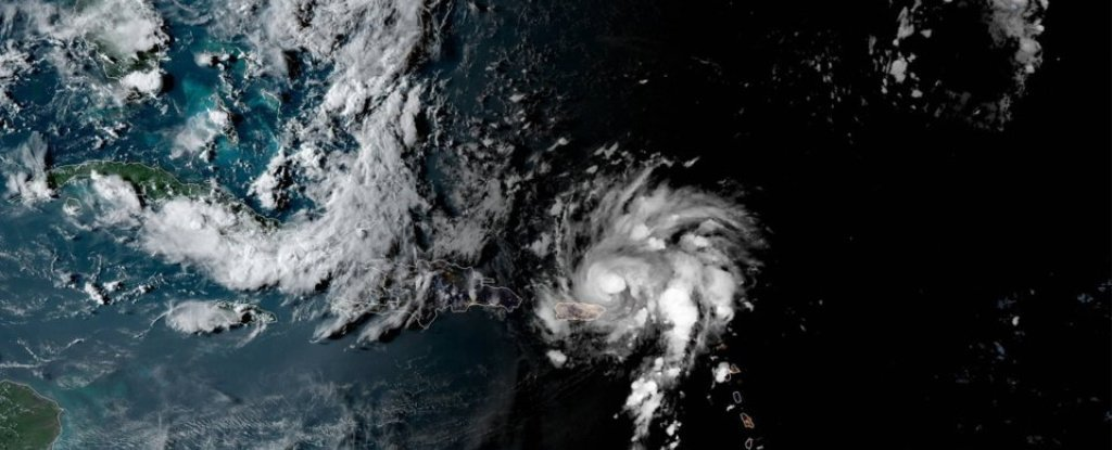 Satellite Images Show Hurricane Dorian Gaining Strength Over The Caribbean