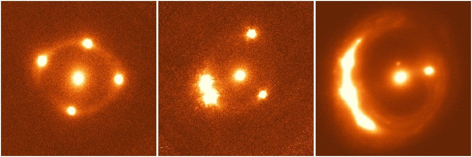 The three lensed quasar system. (G Chen/C Fassnacht/UC Davs)