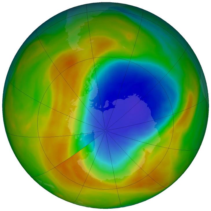 corpo cheio de imagem 2019 do buraco de ozônio