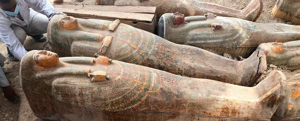 More Than 20 Ancient Egyptian Coffins in Pristine Condition Have Just Been Uncovered