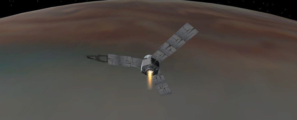 Juno Just Burned Its Thrusters For an Intense 10 Hours to Outrun Jupiter's Shadow