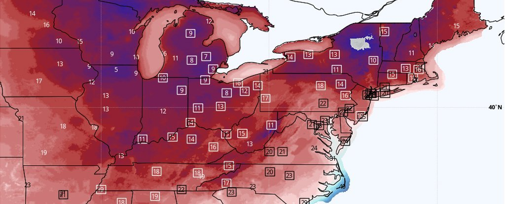 Arctic blast hitting the US predicted to break hundreds of weather records