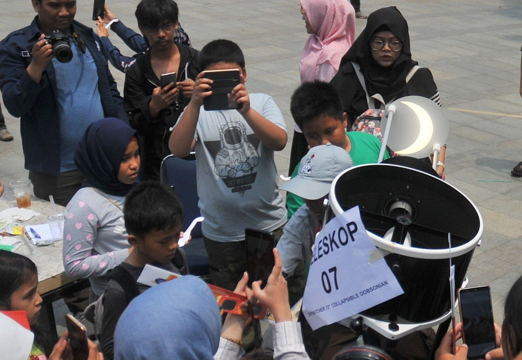Indonesia solar eclipse planetarium