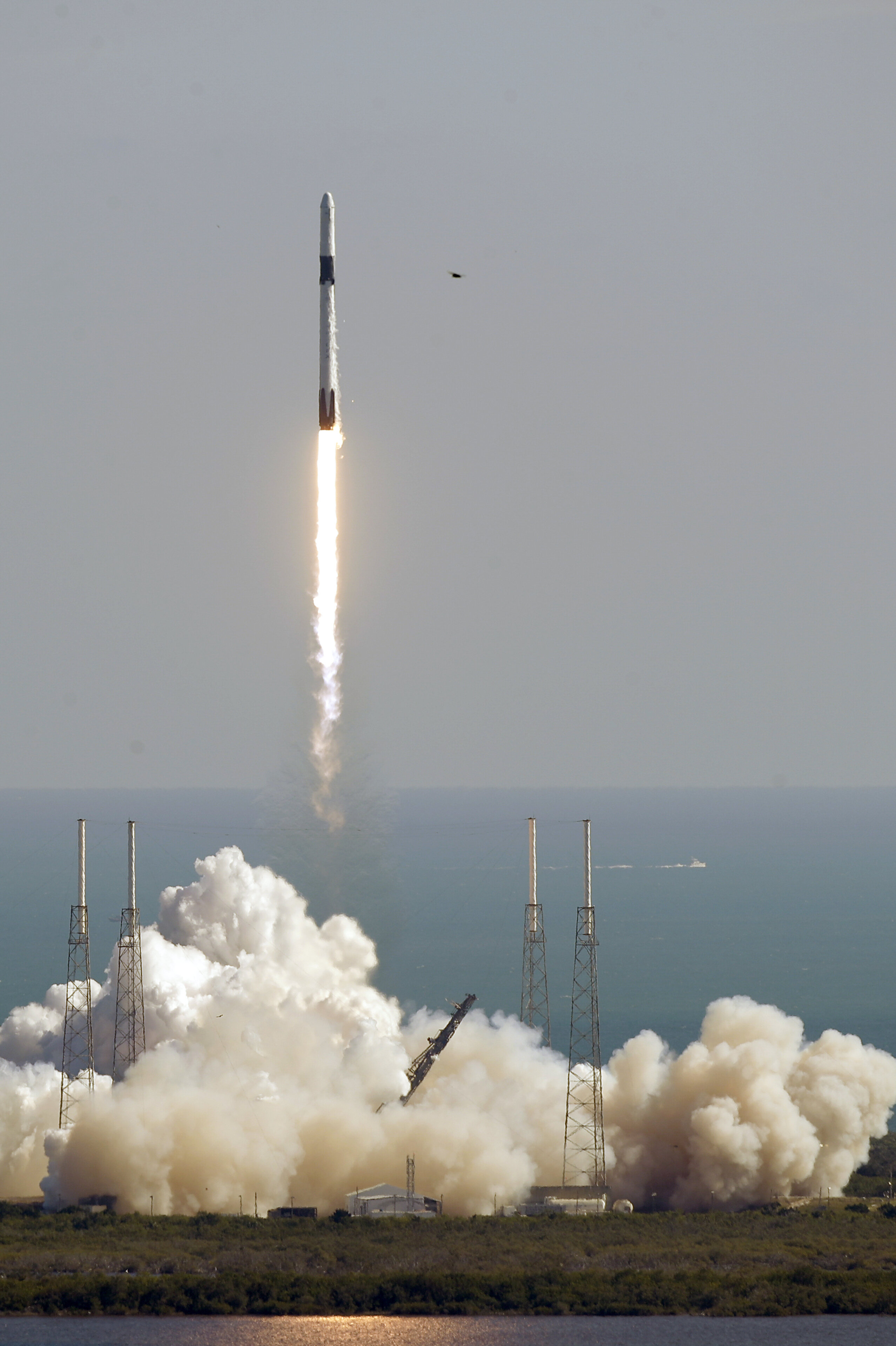 Falcon 9 SpaceX rocket on a resupply mission to the ISS. (AP Photo/John Raoux)