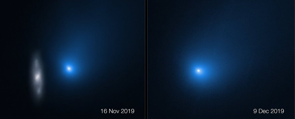 Hubble Captures Incredible Photos of Comet Borisov as It Speeds Past Our Sun