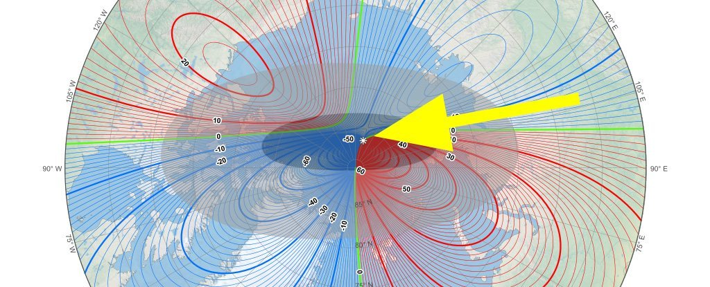 Earth's Magnetic North Pole Keeps Moving Towards Siberia at a Mysteriously Fast Pace