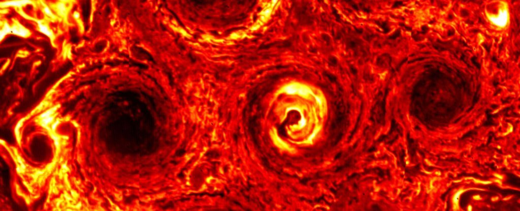 NASA Just Watched a Mass of Cyclones on Jupiter Evolve Into a Mesmerising Hexagon