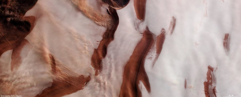 Mars Orbiter Just Sent Back an Incredible Photo of The Red Planet's Icy North Pole