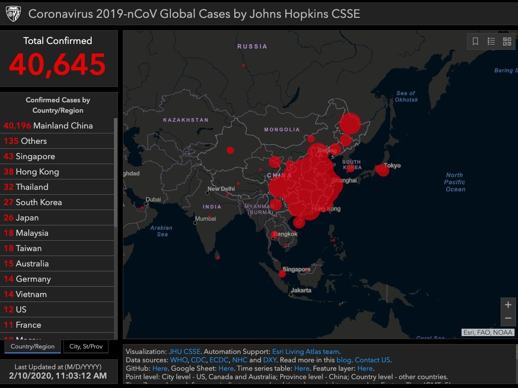 Image result for mapping epidemics: jhu online dashboard