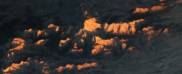 Breathtaking photo shows the majestic peaks of Himalayas from space