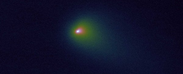 It looks like that interstellar comet came all the way to the Solar System to die