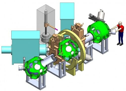 Diagram of a mirror machine