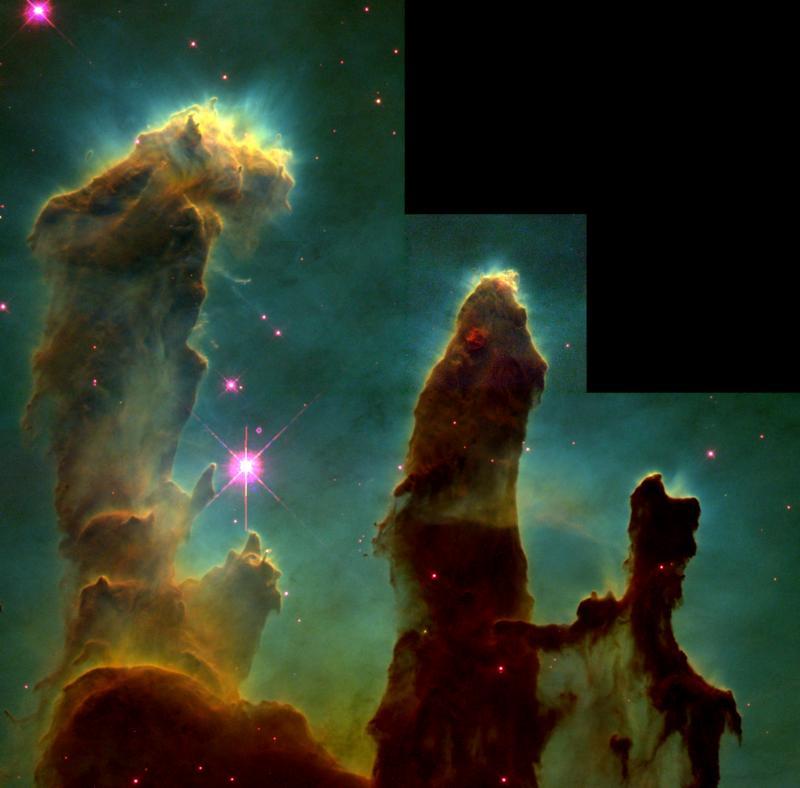 pillars of creation 1995 version nasa hubble