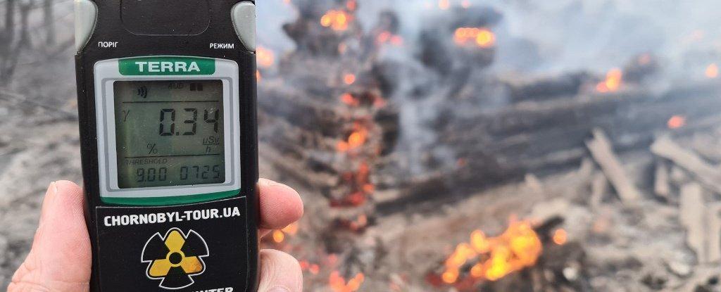 Los incendios forestales alrededor de Chernobyl han llevado la radiación a niveles normales de 16 veces 7