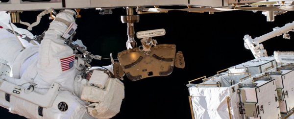 Astronaut loses a mirror in the middle of a spacewalk - and it's on live stream