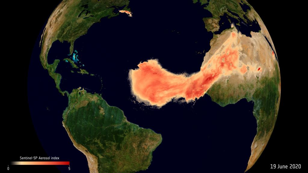Aerosols from Saharan dust plume pillars 1024x576