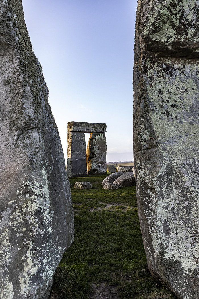 a view from within the circle stonehenge