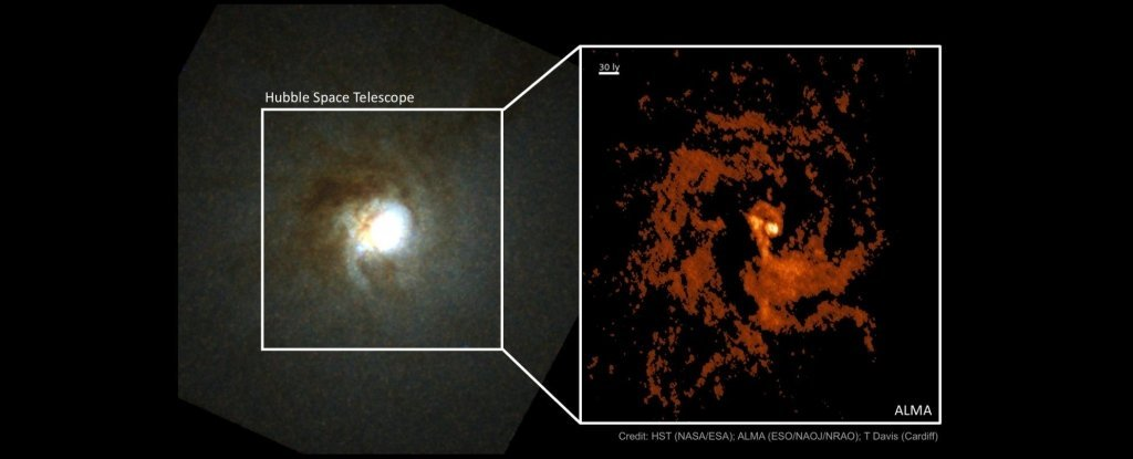 Astronomers Discover 'Missing Link' Black Hole at The Heart of a Ghostly Galaxy