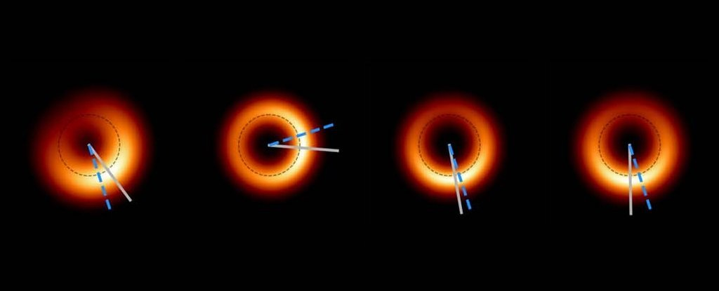 The Giant Black Hole We Imaged For The First Time Now Appears to Be… Glittering - ScienceAlert