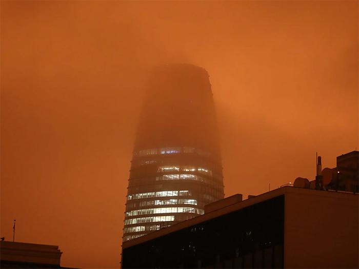 Striking Photos Show Wildfire Smoke Turning The Sky Orange Over San Francisco