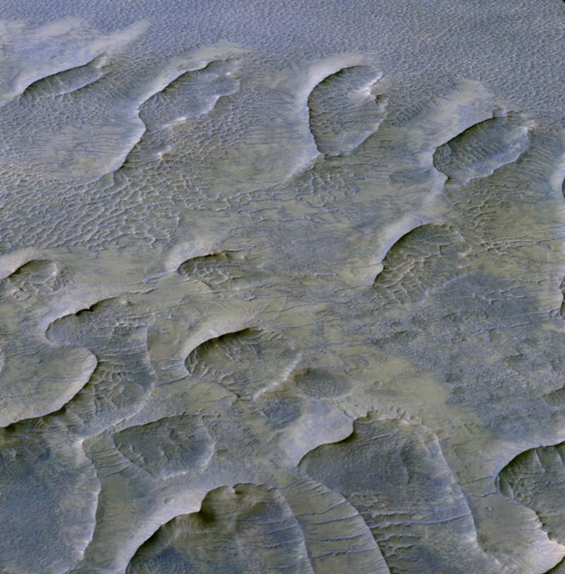 Mars sand dune discovery HiRISE 2020