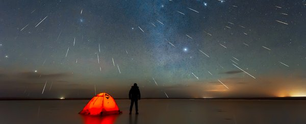 What are meteor showers?