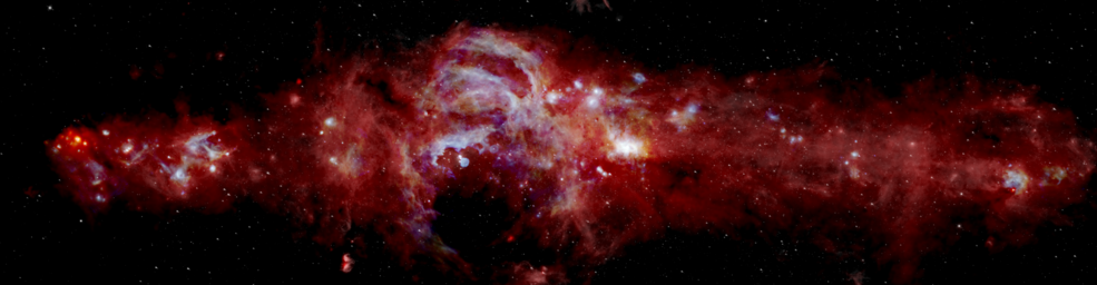 nasa infrared milky way sofia