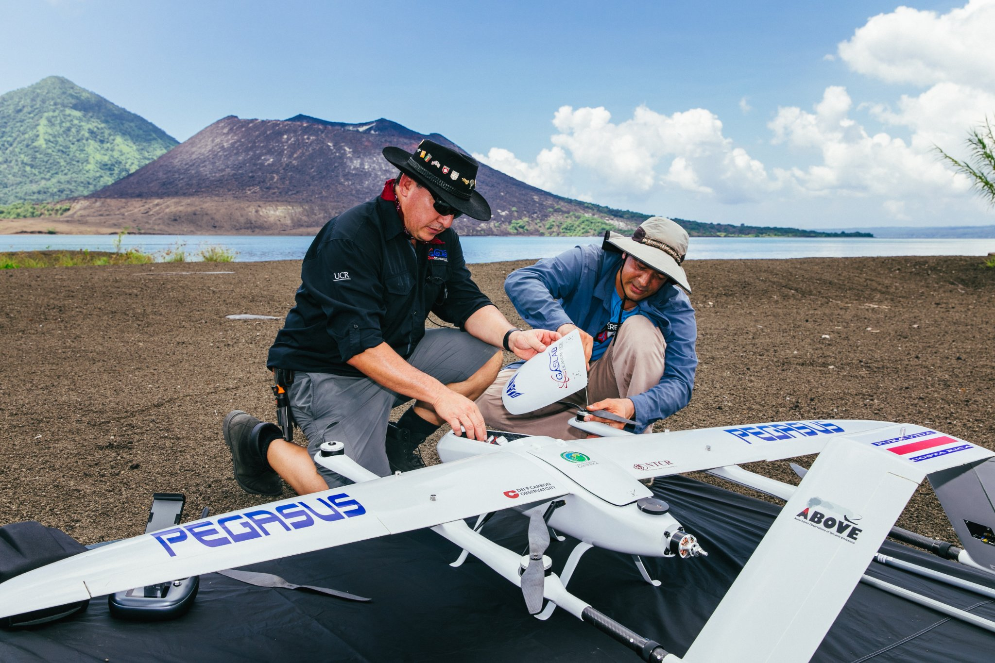 Drone used to measure volcanic gases