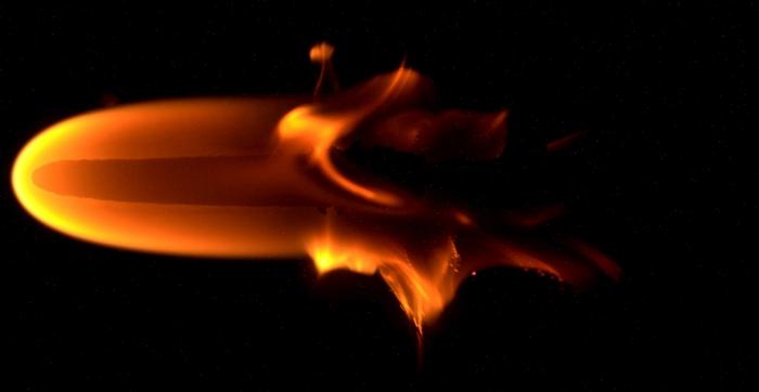 microgravity flame