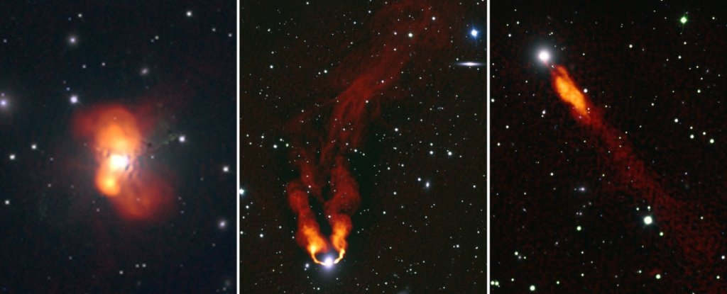 New Radio Images Show Galaxies Like Flames Burning in The Dark