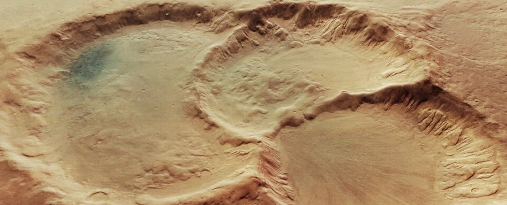 Incredible Images Reveal a Mysteriously Formed Triple Crater on Mars