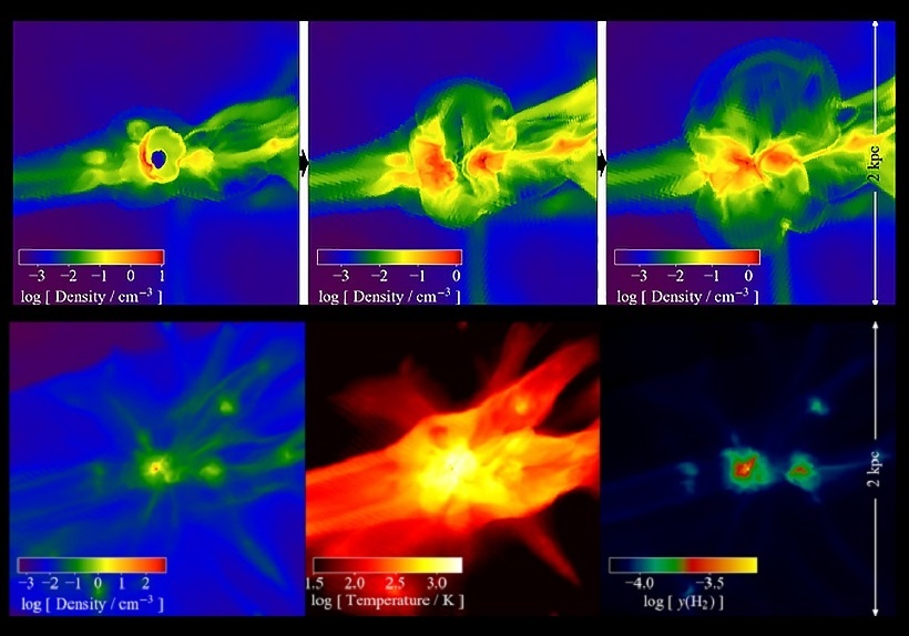 Simulation Gives a Peek Into The Cosmic 'Dark Age' of Star Formation