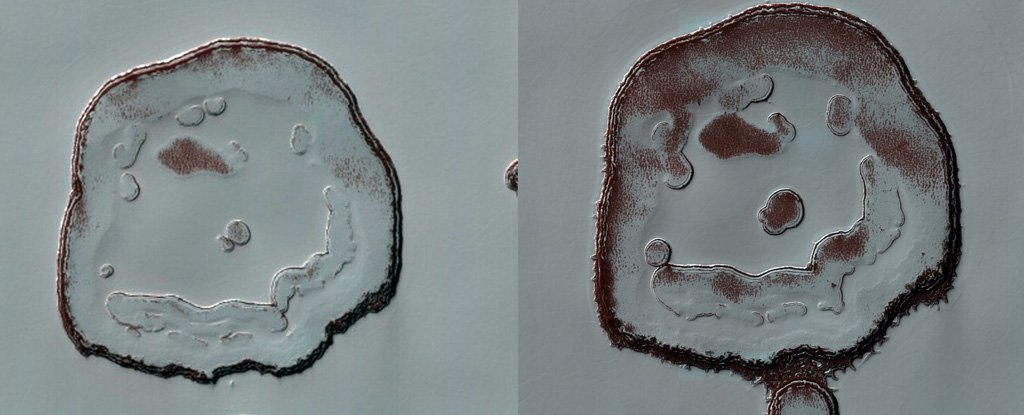 Why The 'Pleased Face Crater' on Mars Is Happier Than Ever