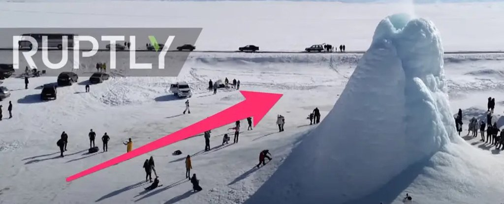 A 45 Ft 'Ice Volcano' Has Emerged in Kazakhstan. Here's How It Works