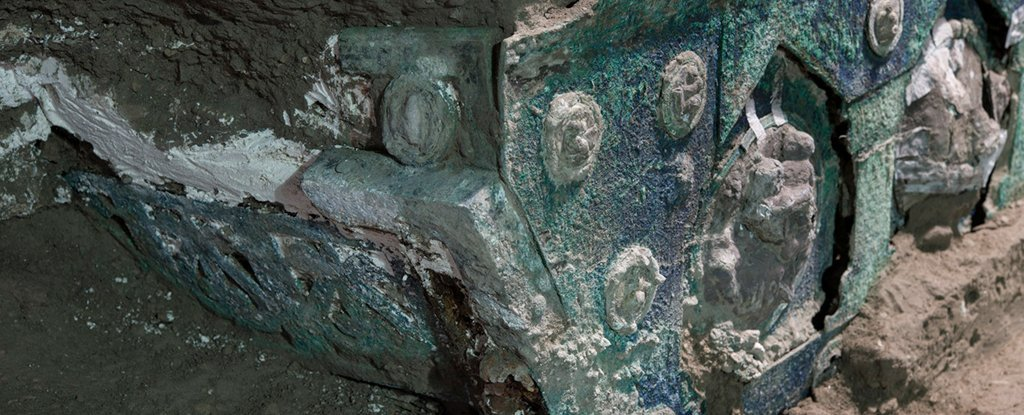 Historic Roman Chariot Utilized in Parades Unearthed 'Virtually Intact' Close to Pompeii