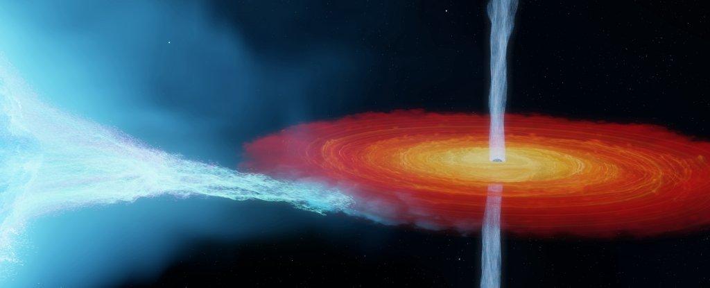 Artist's impression of the Cygnus X-1 system.