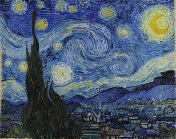 Van Gogh's Starry Night (1889).
