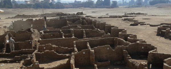 Remains of the 3,000-year-old 'Lost Golden City' discovered beneath Egyptian sands