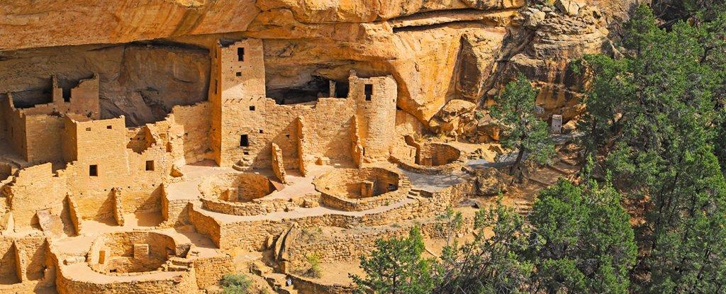 Puebloans Cliff Palace, Mesa Verde, Colorado.