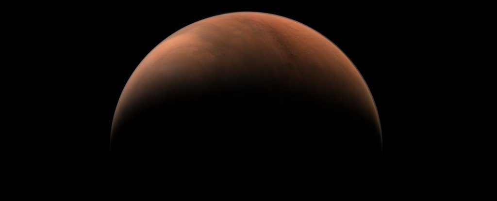 Mars, as seen by Tianwen-1 on March 18.