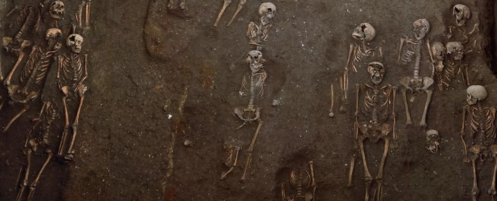 Human remains in the Hospital of St John the Evangelist.