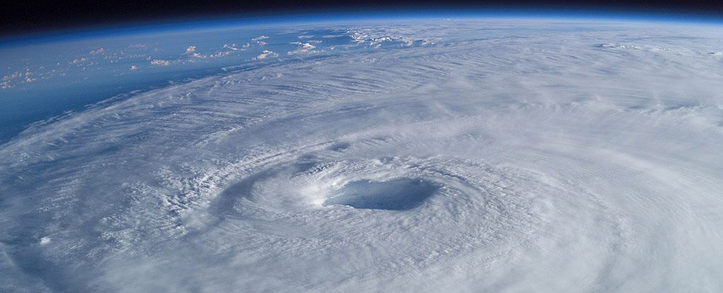 Hurricane Isabel in 2003 as seen from the International Space Station.